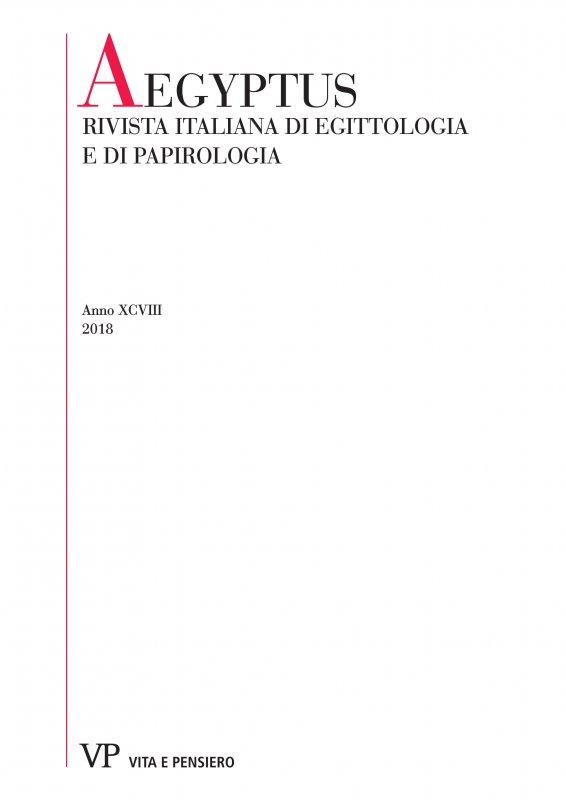 Lessico familiare nei papiri greci dell'Egitto romano e bizantino: alcune considerazioni su ἀμμά
